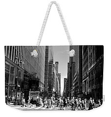 Nyc 42nd Street Crosswalk Weekender Tote Bag