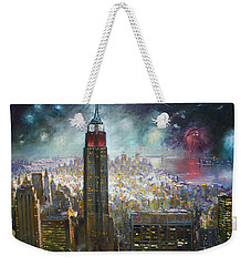 Nyc. Empire State Building Weekender Tote Bag by Ylli Haruni