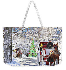 Festive Winter Carriage Rides Weekender Tote Bag by Sandi OReilly
