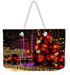 Weekender Tote Bag featuring the photograph Nyc Holiday Balls by Chris Lord