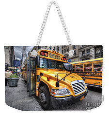 Nyc School Bus Weekender Tote Bag