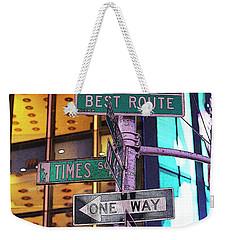 Nyc Street Sign Weekender Tote Bag
