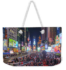 Nyc Times Square Panorama Weekender Tote Bag