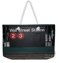 Nyc Wall Street Subway Entrance Weekender Tote Bag
