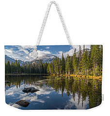 Weekender Tote Bag featuring the photograph Nymph Lake by Dustin LeFevre