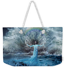 Nymph Of  The Water Weekender Tote Bag by Lilia D