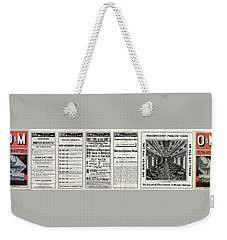 O And M Timetable Weekender Tote Bag