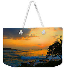 Weekender Tote Bag featuring the photograph Oahu Sunset Hawaii by Michael Rucker