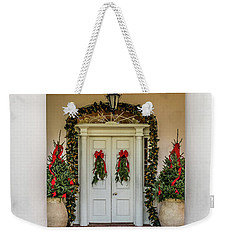 Weekender Tote Bag featuring the photograph Oak Alley Plantation Doors by Paul Freidlund