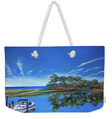 Oak Bluffs With Grady White Weekender Tote Bag