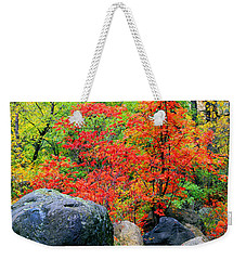 Oak Creek Canyon Red Weekender Tote Bag