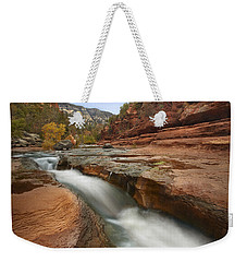 Weekender Tote Bag featuring the photograph Oak Creek In Slide Rock State Park by Tim Fitzharris