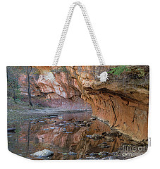 Weekender Tote Bag featuring the photograph Oak Creek Reflections - Sedona, Az by Sandra Bronstein