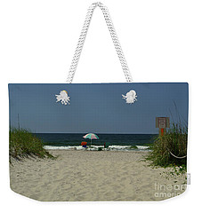 Oak Island Beach Vacancy Weekender Tote Bag