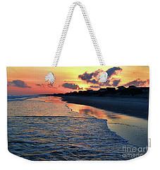 Oak Island Pastel Sunset Weekender Tote Bag