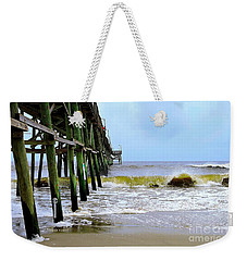 Oak Island Pier Before H.matthew Weekender Tote Bag