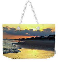 Oak Island Yellow Sunset Weekender Tote Bag