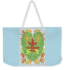 Oak Leaf In A Heart Weekender Tote Bag by Lise Winne