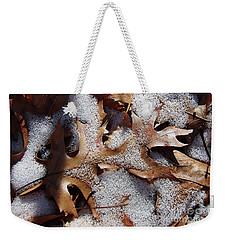 Oak Leaf Snow 2890 Weekender Tote Bag