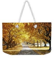 Oak Tree Avenue In Autumn Weekender Tote Bag