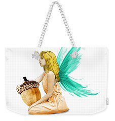 Oak Tree Fairy Holding Acorn Weekender Tote Bag