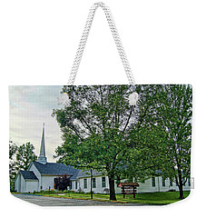 Weekender Tote Bag featuring the photograph Oakland Christian Church by Cricket Hackmann
