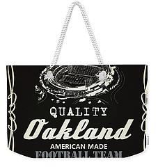 Oakland Raiders Whiskey Weekender Tote Bag by Joe Hamilton