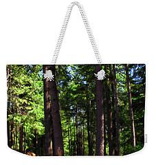 Oakrun Forest Weekender Tote Bag by Joyce Dickens