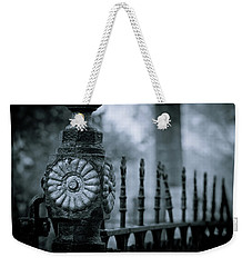 Weekender Tote Bag featuring the photograph Oakwood Cemetery by Linda Unger