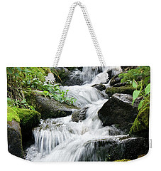 Weekender Tote Bag featuring the photograph Oasis Cascade by David Chandler