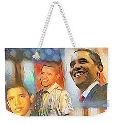 Obama - From Boy Scout To President Weekender Tote Bag