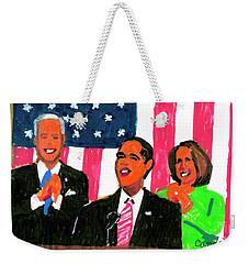 Obama's State Of The Union '10 Weekender Tote Bag by Candace Lovely