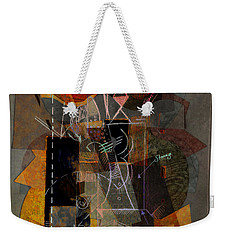 Objects In Space With Gold Weekender Tote Bag