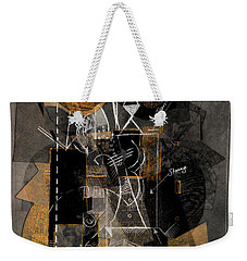 Objects In Space With Ochre Weekender Tote Bag