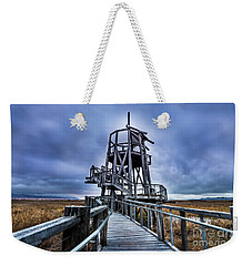 Weekender Tote Bag featuring the photograph Observation Tower - Great Salt Lake Shorelands Preserve by Gary Whitton