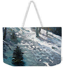 Observing Snow Weekender Tote Bag