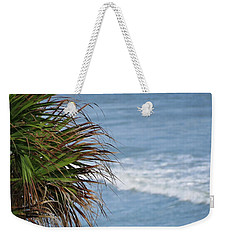 Ocean And Palm Leaves Weekender Tote Bag