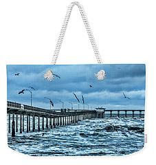 Ocean Beach Fishing Pier Weekender Tote Bag