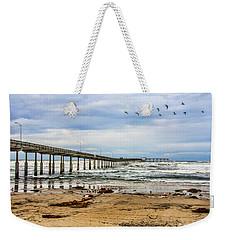 Ocean Beach Pier Fishing Airforce Weekender Tote Bag
