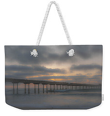 Ocean Beach Pier San Diego Ca Weekender Tote Bag by Bruce Pritchett