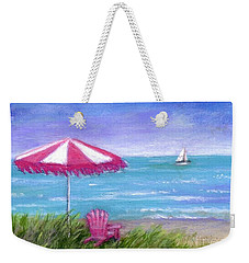 Weekender Tote Bag featuring the painting Ocean Breeze by Sandra Estes