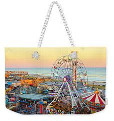 Ocean City New Jersey Boardwalk And Music Pier Weekender Tote Bag
