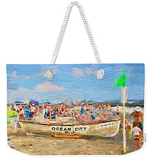 Ocean City Rescue Boat 2 Weekender Tote Bag
