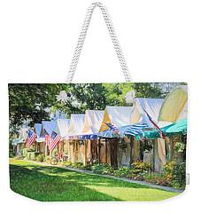 Ocean Grove Tents Sketch Weekender Tote Bag by Eleanor Abramson