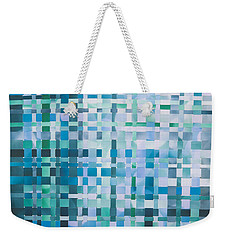 Weekender Tote Bag featuring the mixed media Ocean by Jan Bickerton