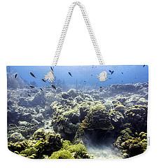 Weekender Tote Bag featuring the photograph Ocean Light II by Perla Copernik