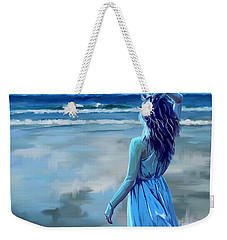 Weekender Tote Bag featuring the painting Ocean Longing by Tim Gilliland