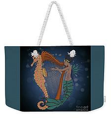 Weekender Tote Bag featuring the digital art Ocean Lullaby1 by Megan Dirsa-DuBois