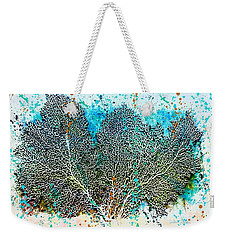 Weekender Tote Bag featuring the painting Ocean Sea Fan by Barbara Chichester