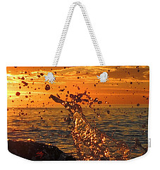 Ocean Splash Weekender Tote Bag